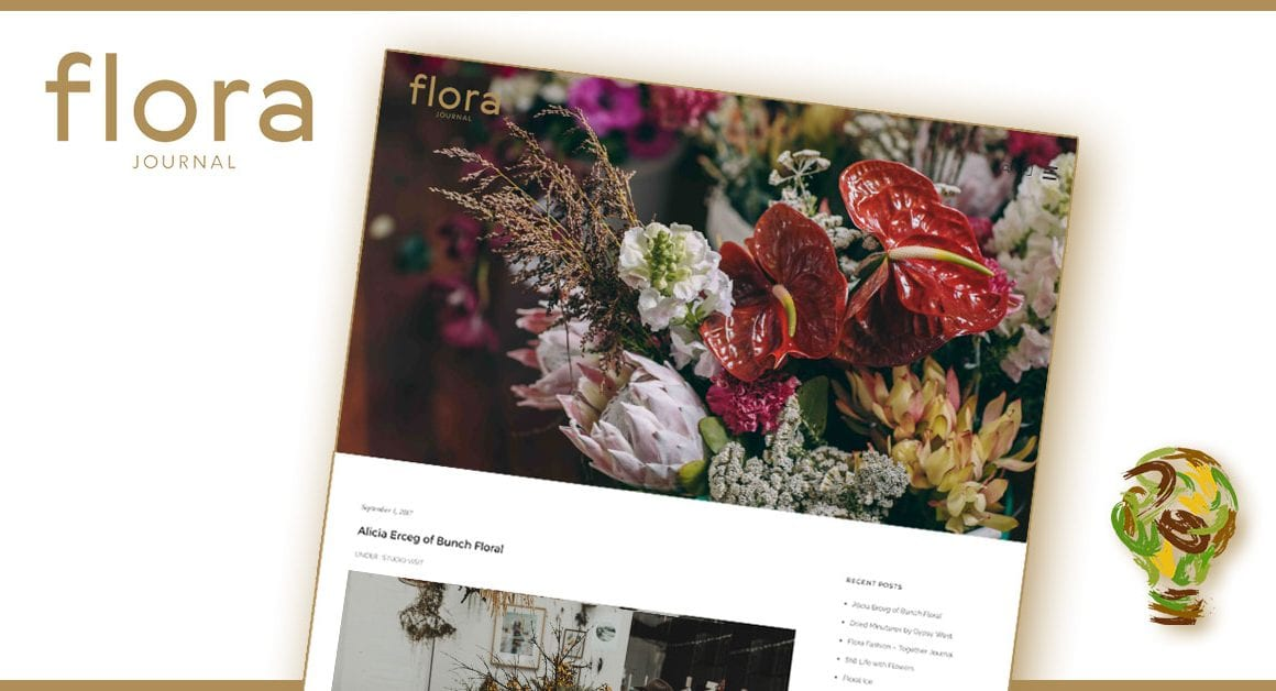 Flora Journal website layout developed by BE Business